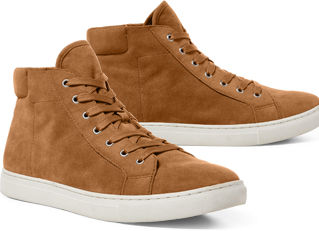 Tan suede sneakers