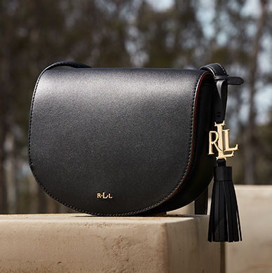 Mini saddle bag with a leather tassel