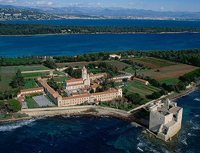 Fifth-century abbey on the island of  Île Saint-Honorat