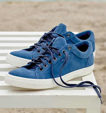 Pair of blue suede sneakers