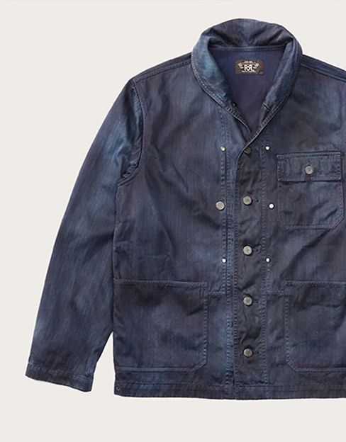 Faded navy multi-pocket jacket
