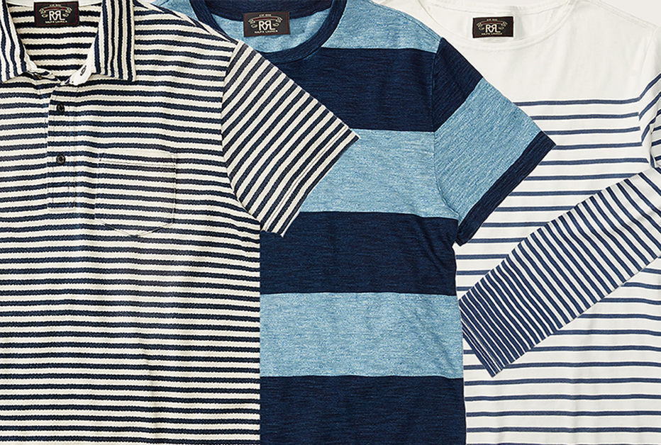 Casual tees with various striped patterns
