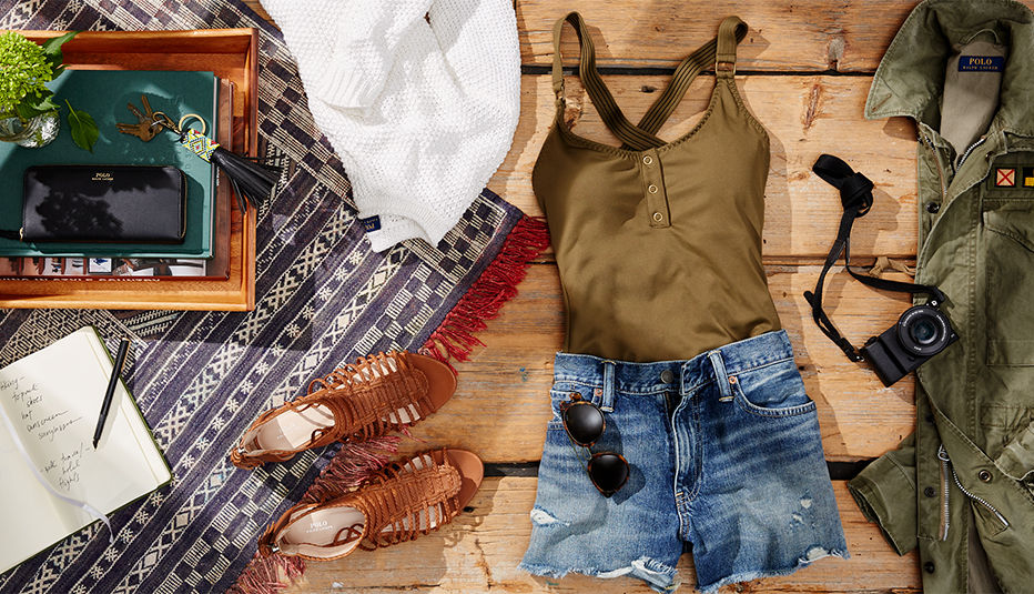 Denim cutoffs, leather cage silhouette sandals & more Maine essentials