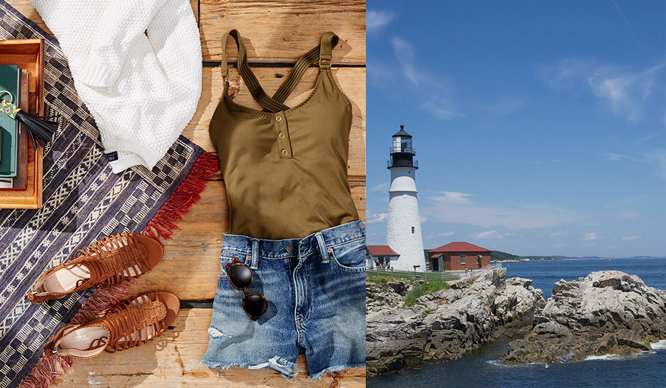 Denim cutoffs, leather cage silhouette sandals & more summer getaway essentials