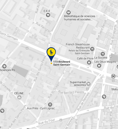 Map of Ralph's location in Paris.