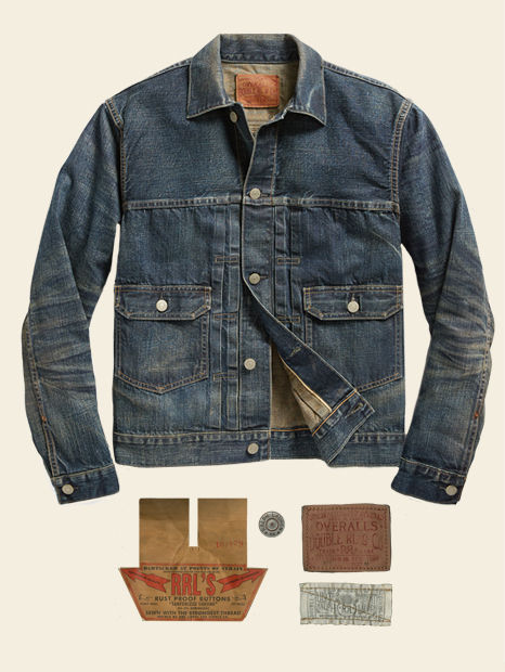 Denim jacket with allover fading