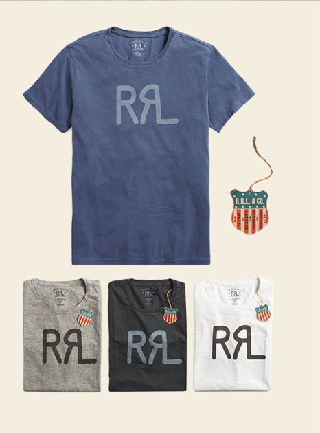 Double RL logo graphic tees