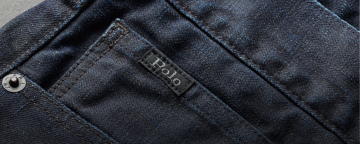 Close-up image of coin pocket on Polo jeans