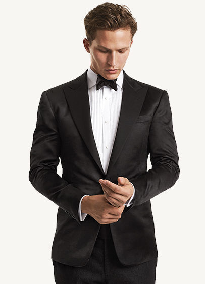 Picture of model wearing tuxedo