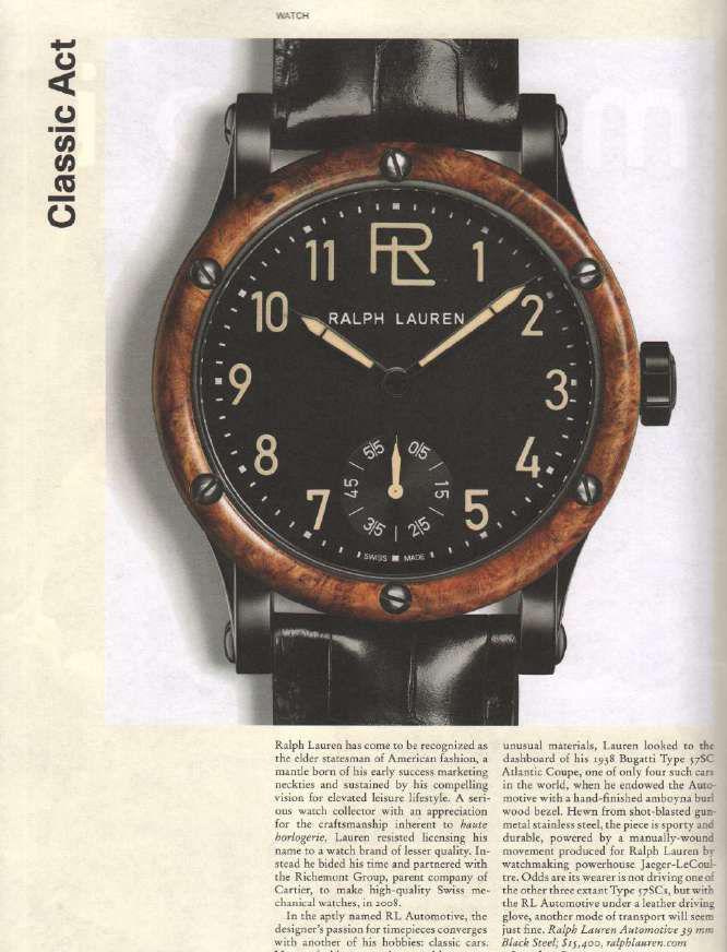 men s automotive collection watch boutique ralphlauren com