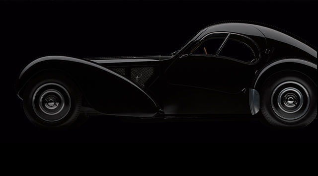 Photograph of the Bugatti Type 57SC Atlantic Coupe