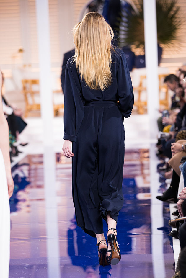 Back view of Model in Look 16 from Ralph Lauren's Spring 2018 Fashion Show