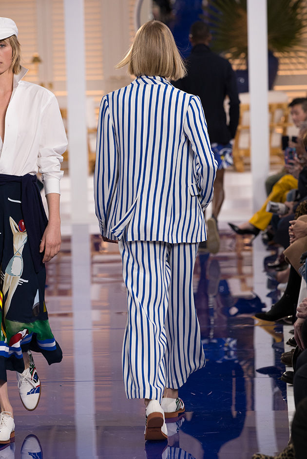 Back view of Model in Look 23 from Ralph Lauren's Spring 2018 Fashion Show