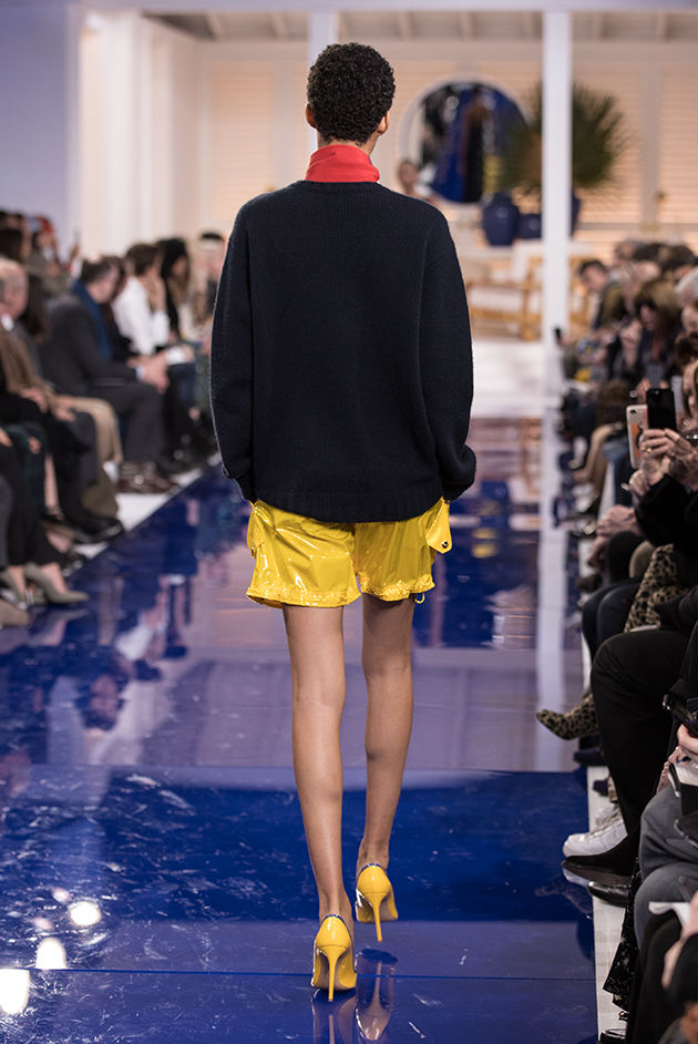 Back view of Model in Look 35 from Ralph Lauren's Spring 2018 Fashion Show