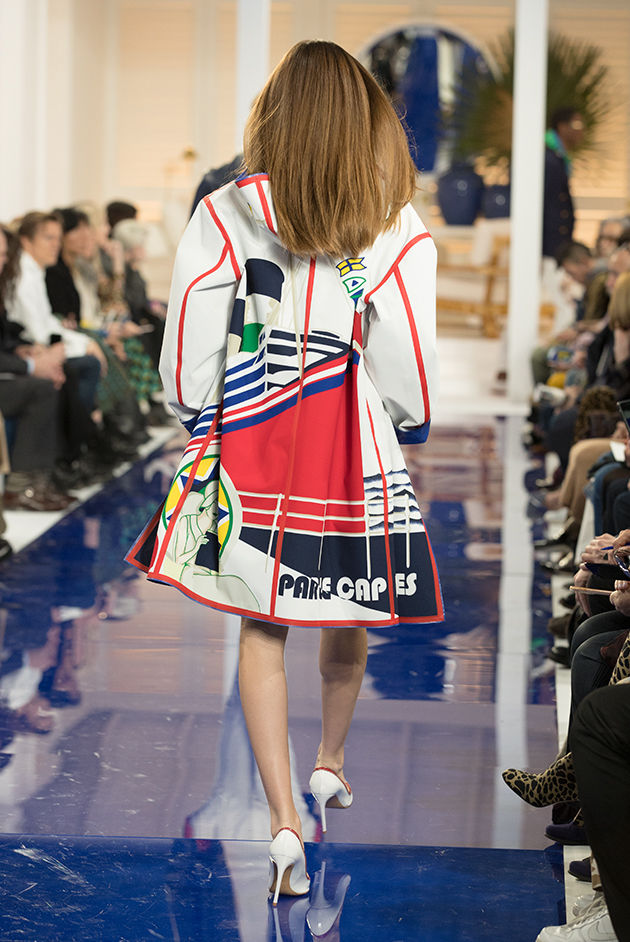 Back view of Model in Look 39 from Ralph Lauren's Spring 2018 Fashion Show