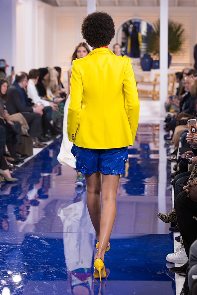 Back view of Model in Look 49 from Ralph Lauren's Spring 2018 Fashion Show