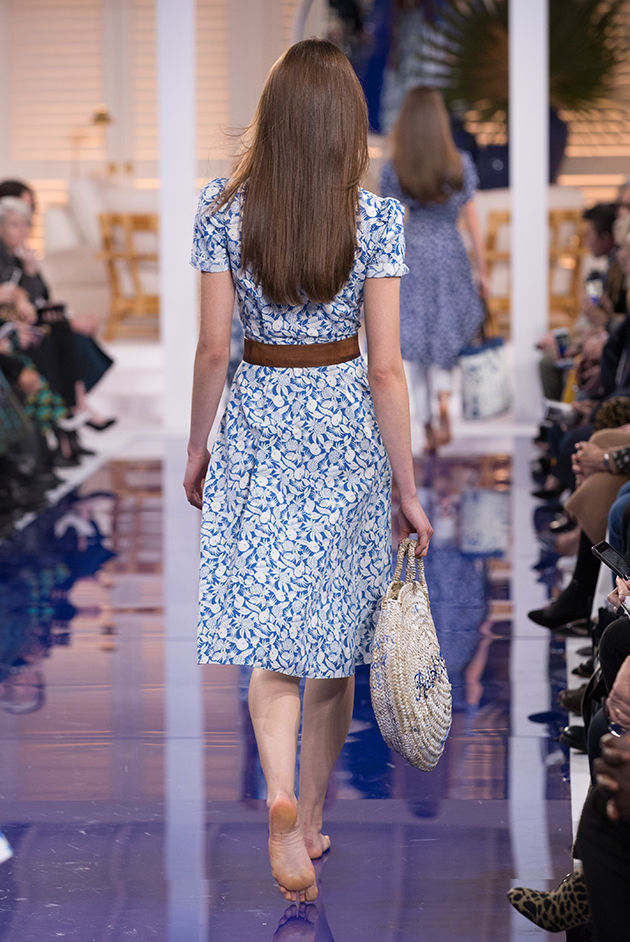 Back view of Model in Look 4 from Ralph Lauren's Spring 2018 Fashion Show