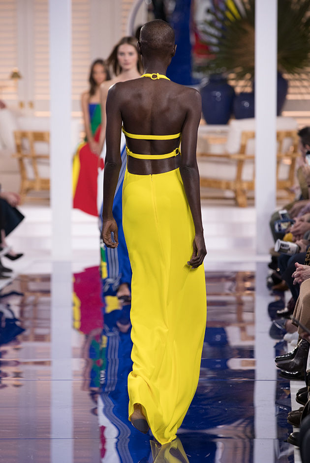 Back view of Model in Look 59 from Ralph Lauren's Spring 2018 Fashion Show