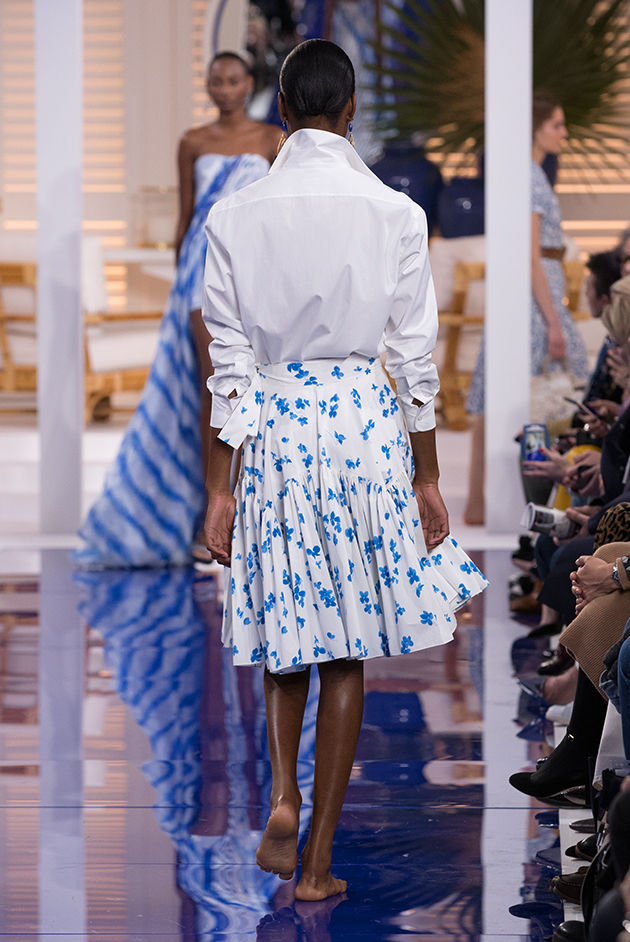 Back view of Model in Look 5 from Ralph Lauren's Spring 2018 Fashion Show