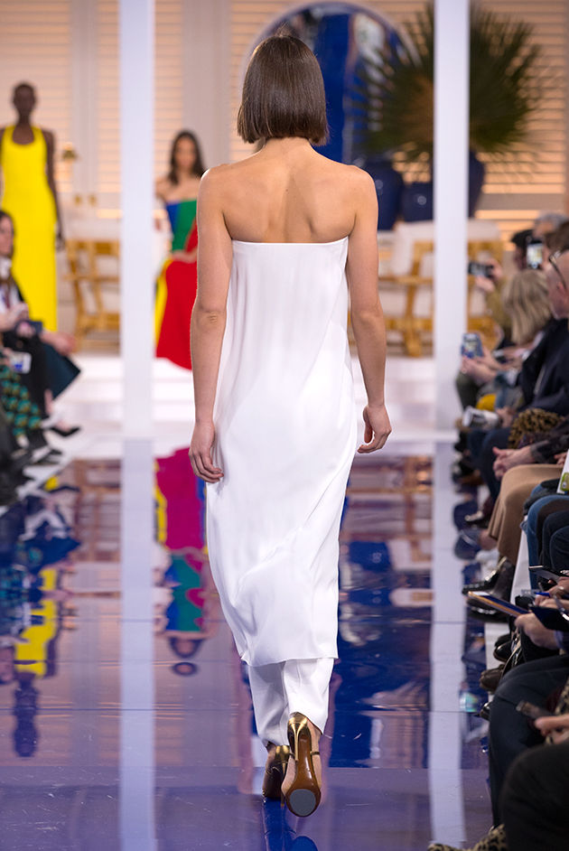 Back view of Model in Look 62 from Ralph Lauren's Spring 2018 Fashion Show