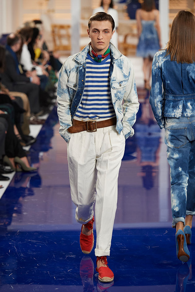Model in Look 10 from Ralph Lauren's Spring 2018 Fashion Show