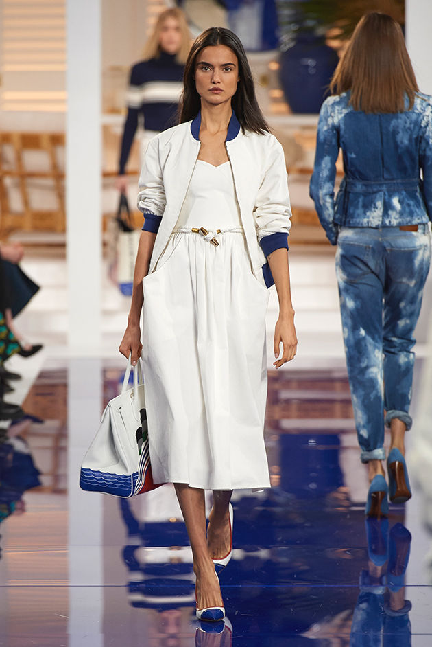 Model in Look 11 from Ralph Lauren's Spring 2018 Fashion Show