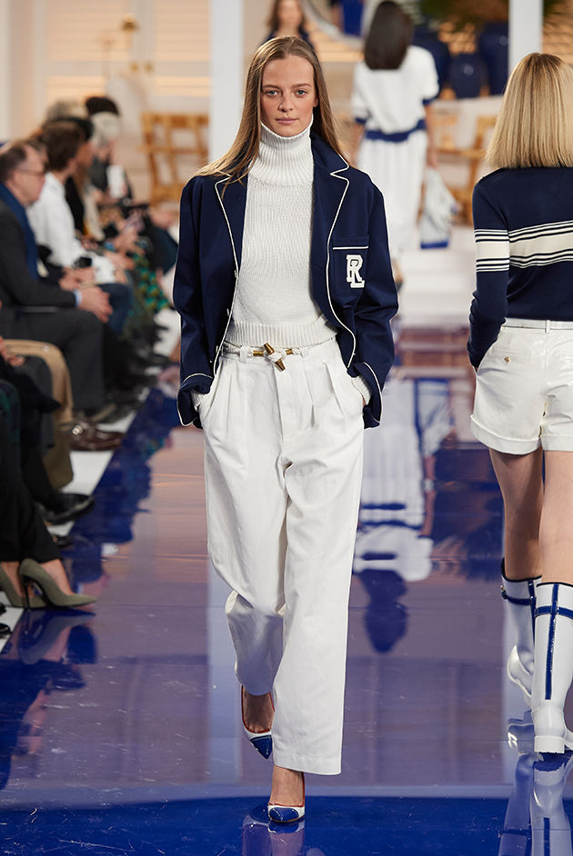 Model in Look 13 from Ralph Lauren's Spring 2018 Fashion Show