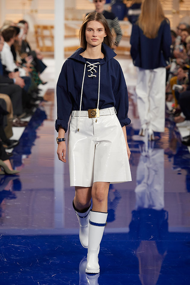 Model in Look 14 from Ralph Lauren's Spring 2018 Fashion Show