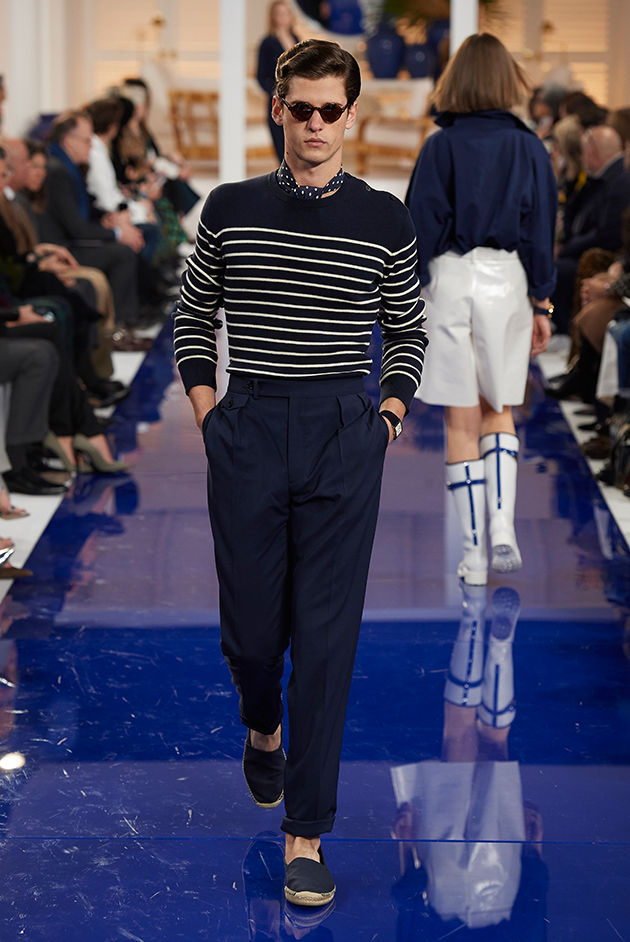 Model in Look 15 from Ralph Lauren's Spring 2018 Fashion Show