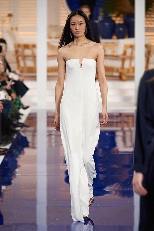 Model in Look 17 from Ralph Lauren's Spring 2018 Fashion Show