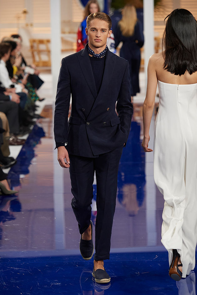 Model in Look 18 from Ralph Lauren's Spring 2018 Fashion Show