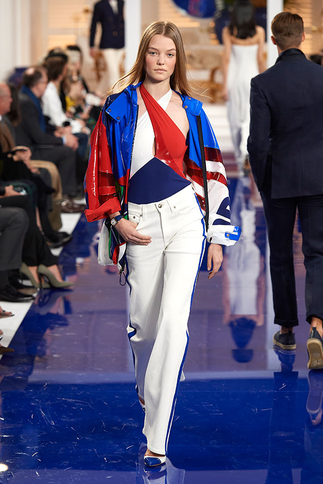 Model in Look 19 from Ralph Lauren's Spring 2018 Fashion Show