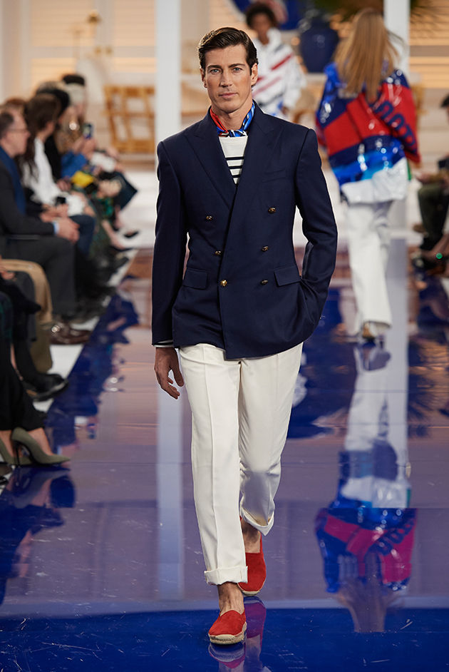 Model in Look 20 from Ralph Lauren's Spring 2018 Fashion Show