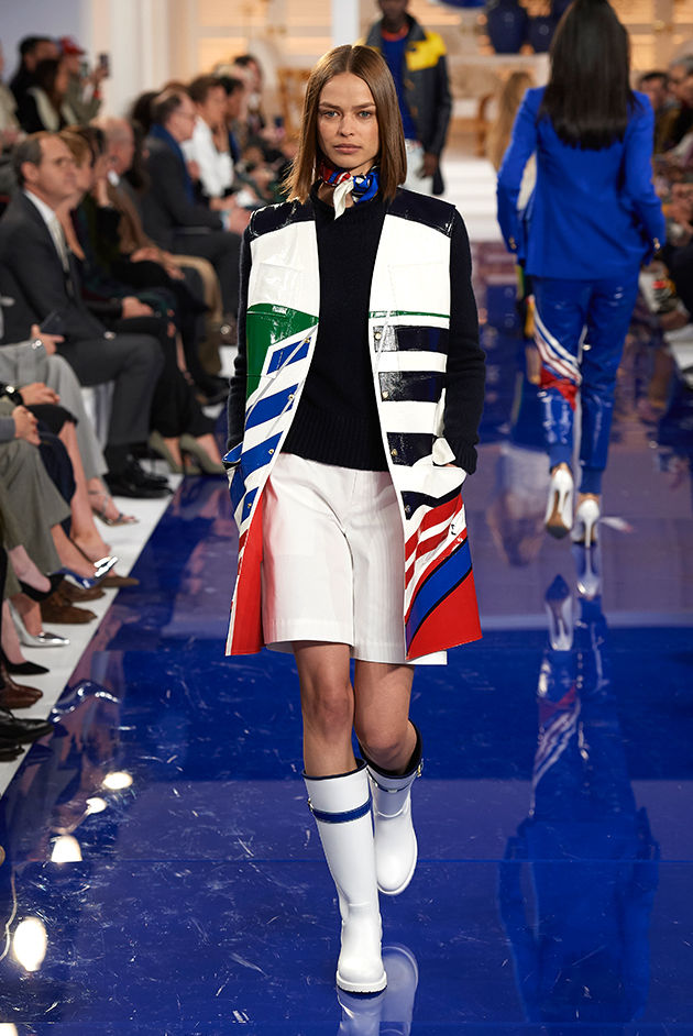 Model in Look 31 from Ralph Lauren's Spring 2018 Fashion Show
