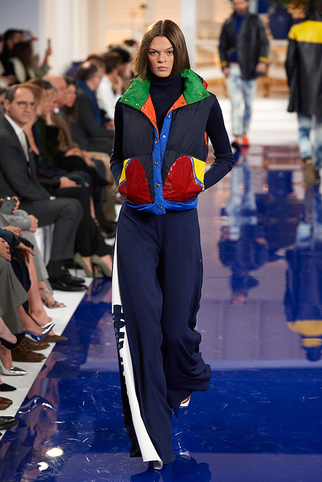 Model in Look 33 from Ralph Lauren's Spring 2018 Fashion Show
