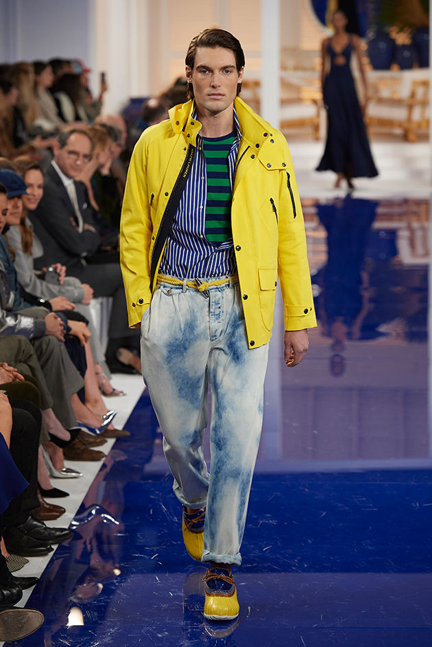 Model in Look 36 from Ralph Lauren's Spring 2018 Fashion Show