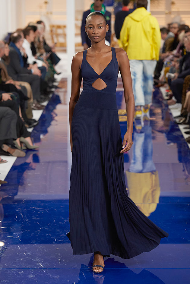 Model in Look 37 from Ralph Lauren's Spring 2018 Fashion Show