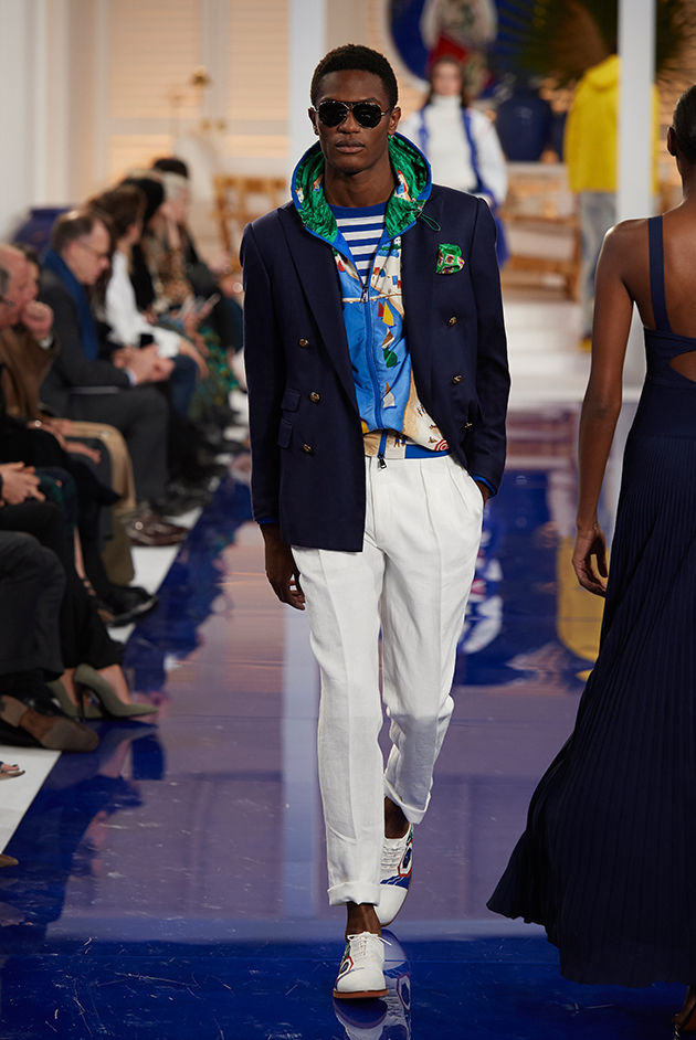 Model in Look 38 from Ralph Lauren's Spring 2018 Fashion Show