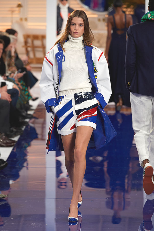 Model in Look 39 from Ralph Lauren's Spring 2018 Fashion Show