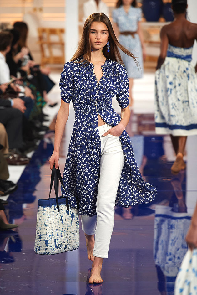Model in Look 03 from Ralph Lauren's Spring 2018 Fashion Show