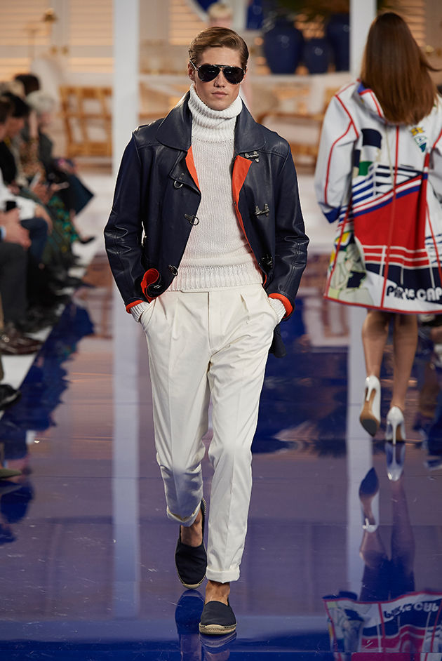 Model in Look 40 from Ralph Lauren's Spring 2018 Fashion Show
