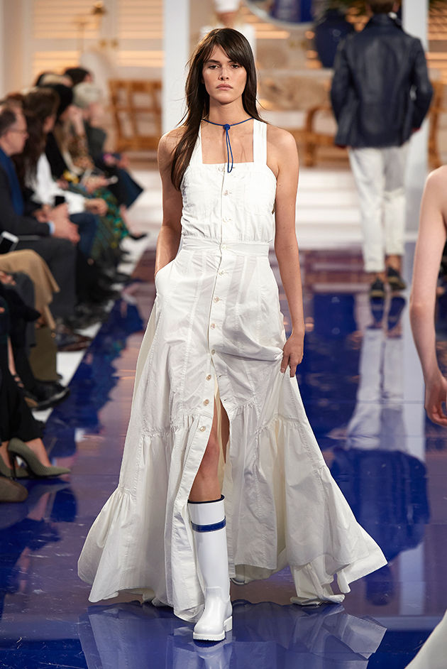 Model in Look 42 from Ralph Lauren's Spring 2018 Fashion Show