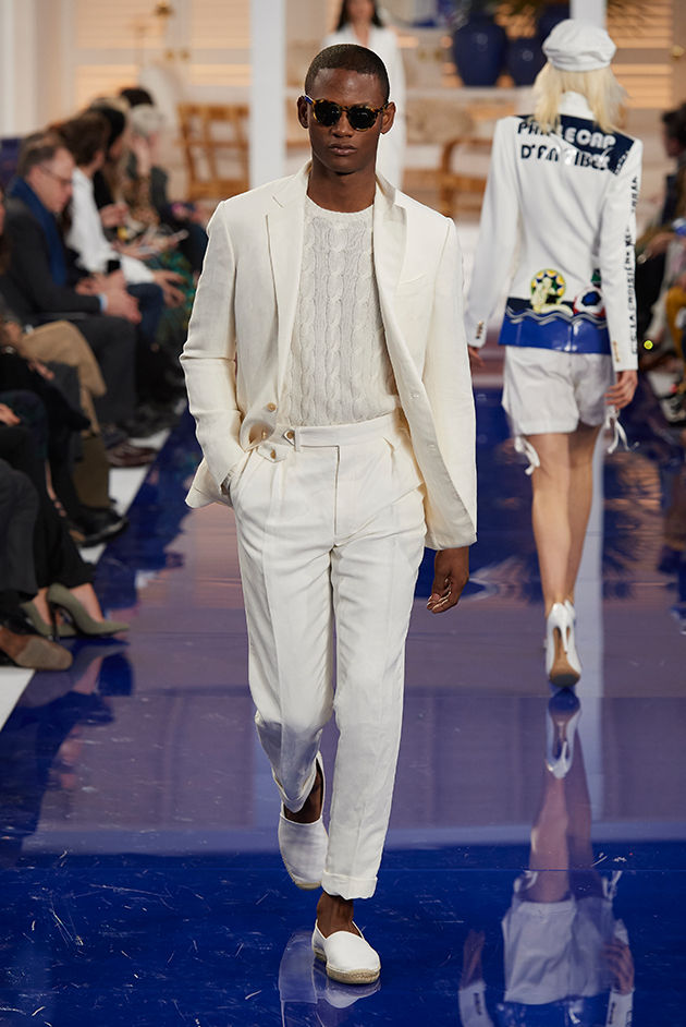 Model in Look 44 from Ralph Lauren's Spring 2018 Fashion Show