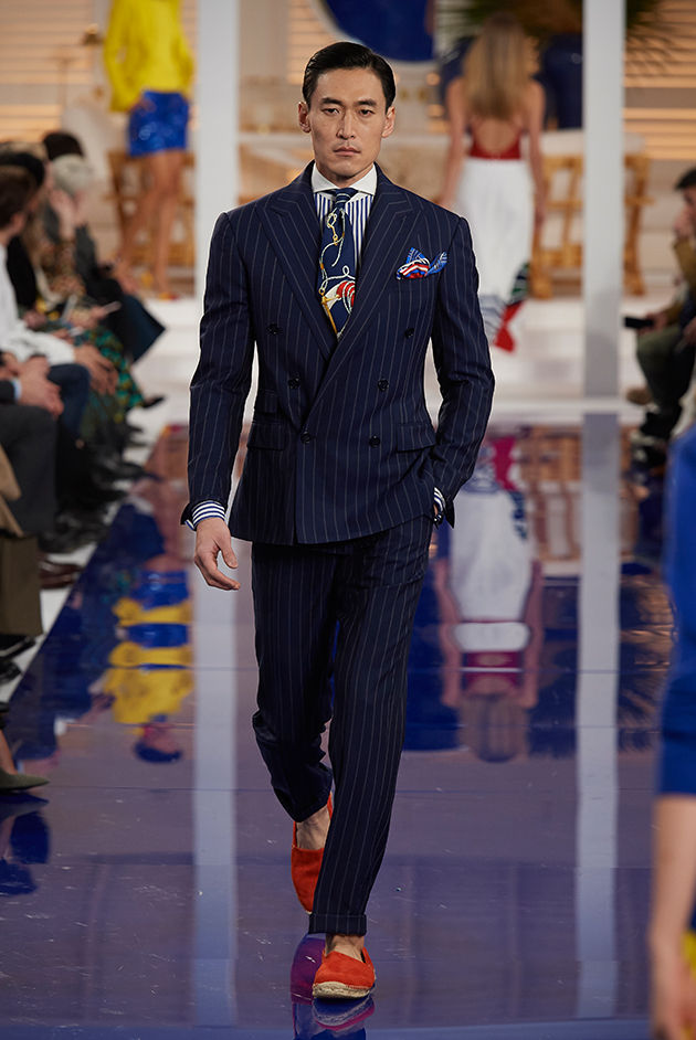 Model in Look 48 from Ralph Lauren's Spring 2018 Fashion Show