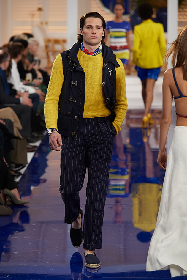 Model in Look 51 from Ralph Lauren's Spring 2018 Fashion Show