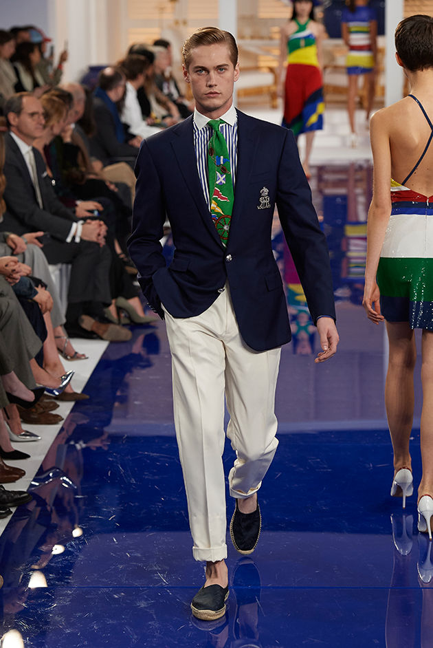 Model in Look 54 from Ralph Lauren's Spring 2018 Fashion Show