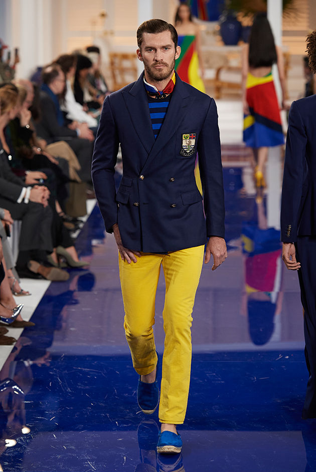 Model in Look 57 from Ralph Lauren's Spring 2018 Fashion Show