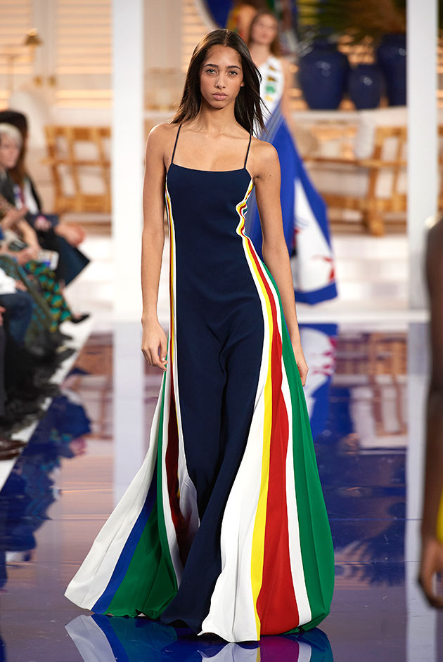 Model in Look 60 from Ralph Lauren's Spring 2018 Fashion Show