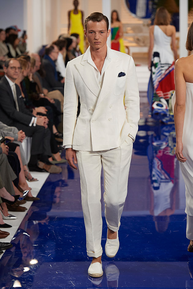 Model in Look 63 from Ralph Lauren's Spring 2018 Fashion Show